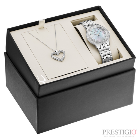 Bulova Crystal Watch Box Set