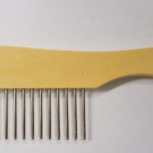 Extra Wide Wooden Handle Comb