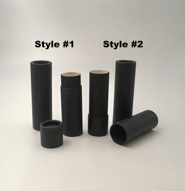 .3 ounce / 8.5 g Matte Black Lip Balm Tubes