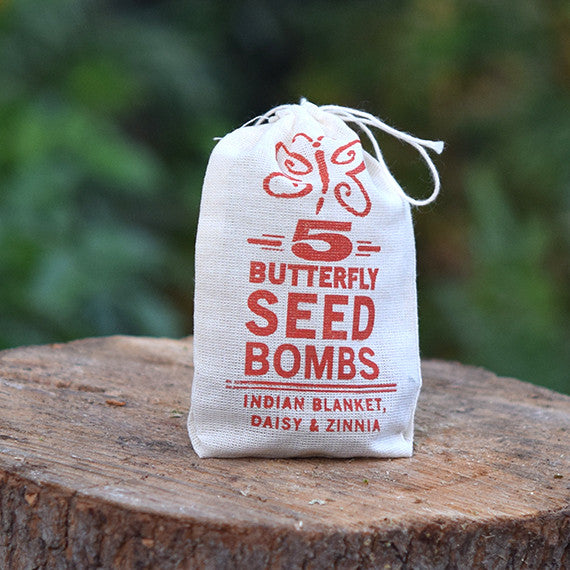5 Butterfly seed bombs