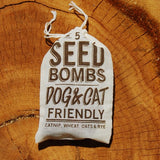 Dog and Cat Friendly seed bombs