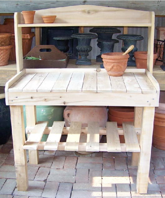 Potting Bench with Shelf