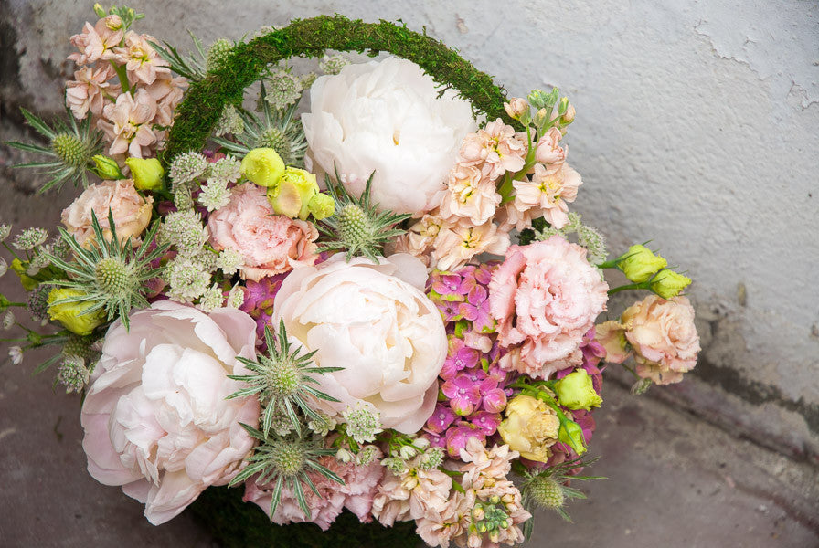 Peonies in a Basket