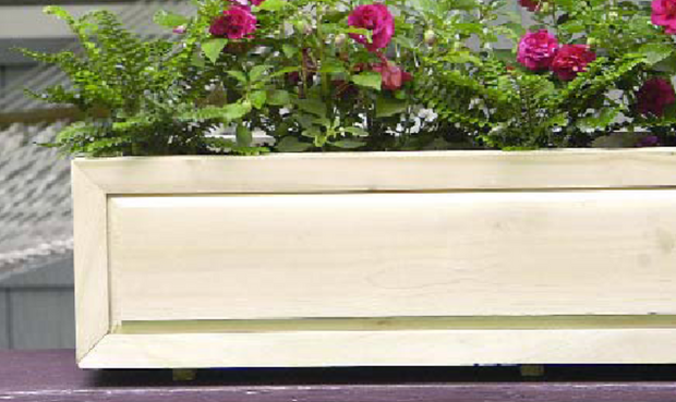 Raised Panel Window Box 38""