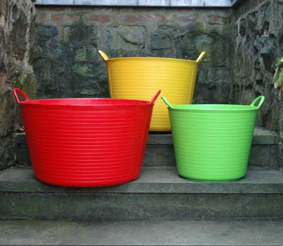 Colored Tub Trugs
