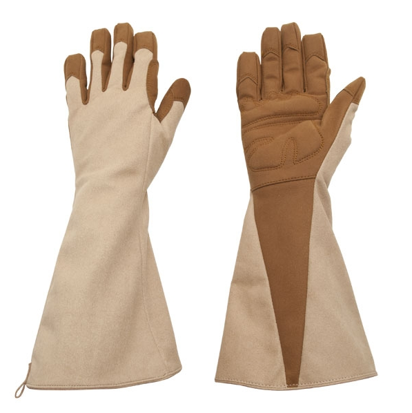 Vegan Leather Gauntlet - Puncture Resistant Pruning Gloves