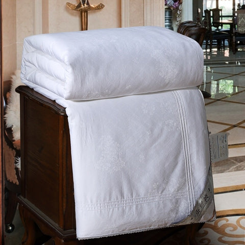 100% Cotton Long Strand Mulberry Silk Comforter - Free Shipping