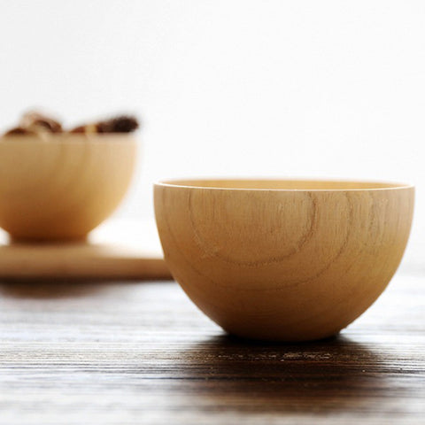Natural Wooden Bowl perfect for eating Sauerkraut and Kimchi