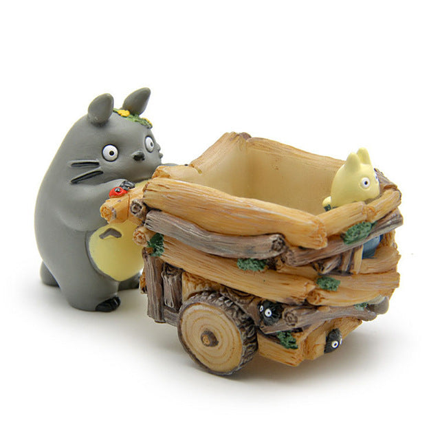 Cartoon Cart Totoro Flower Pot