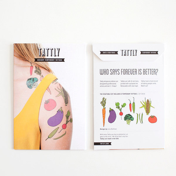 Tattly Tattoo, Veggies!