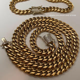 10mm Miami Cuban Link Chain Diamond Lock
