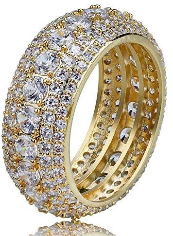 10mm Wheel Diamond Ring - Gold Nation Store