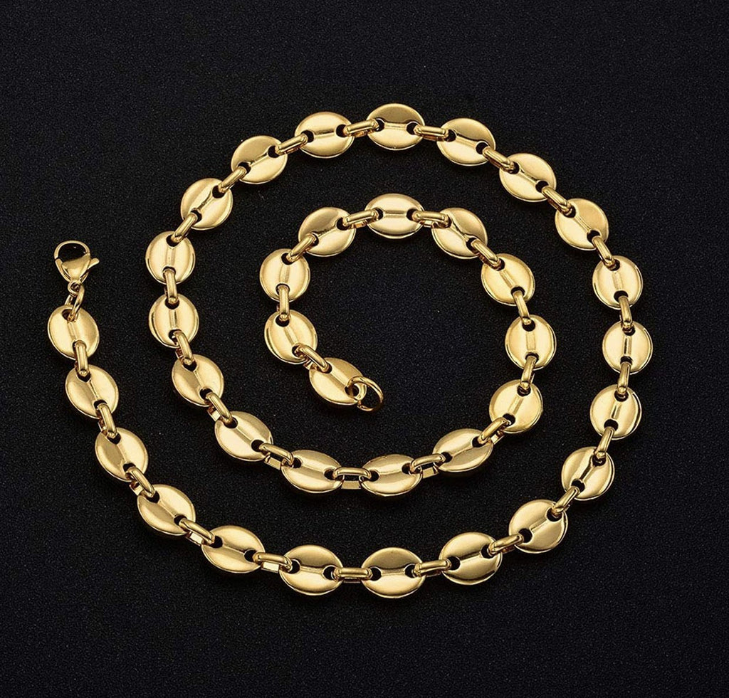 11mm Gucci Chain 18k Necklaces - Gold Nation Store