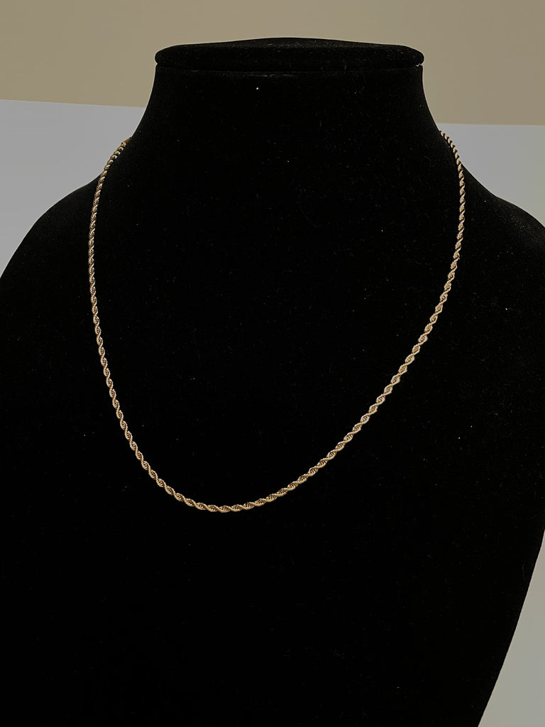 2mm Rope Chain 14k Necklaces - Gold Nation Store