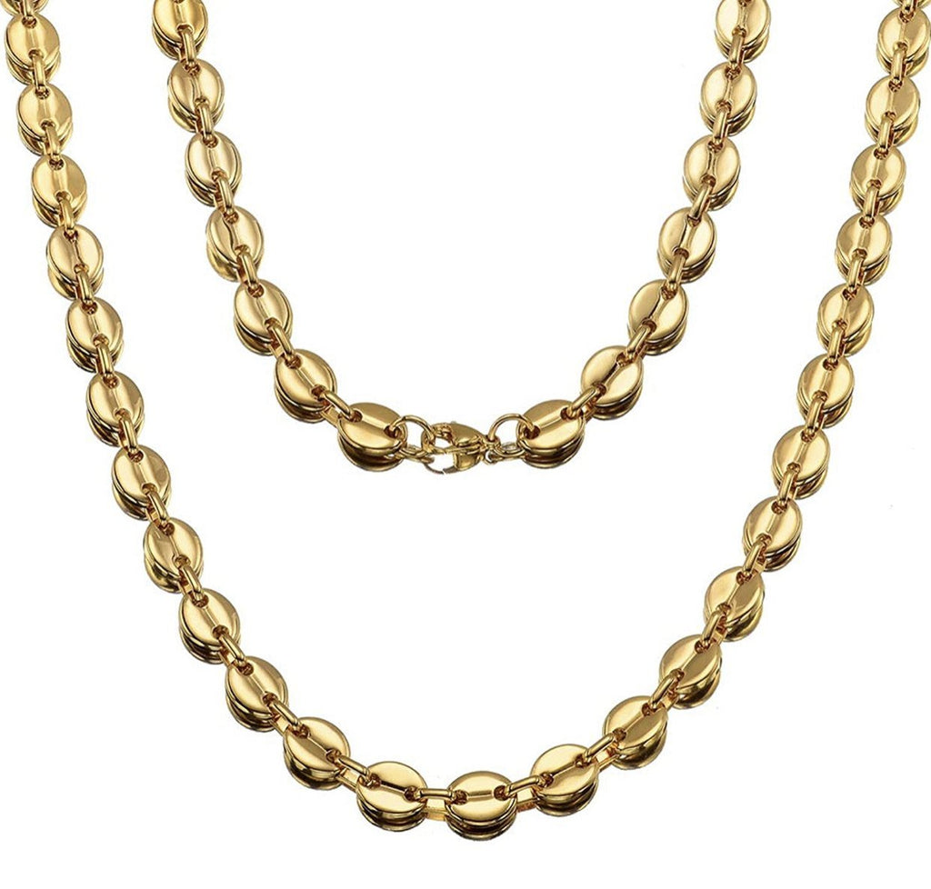 7mm Gucci Chain 18k Necklaces - Gold Nation Store