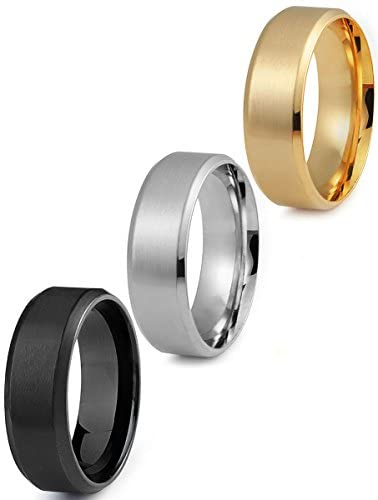 8mm Band Rings - 1 Price 3 Rings! - Gold Nation Store