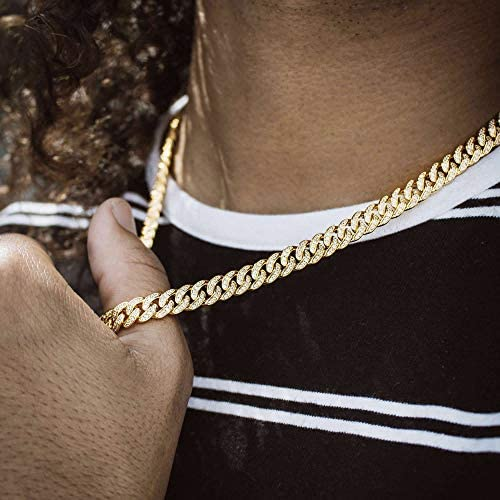 8mm Diamond Cuban Link Necklaces - Gold Nation Store