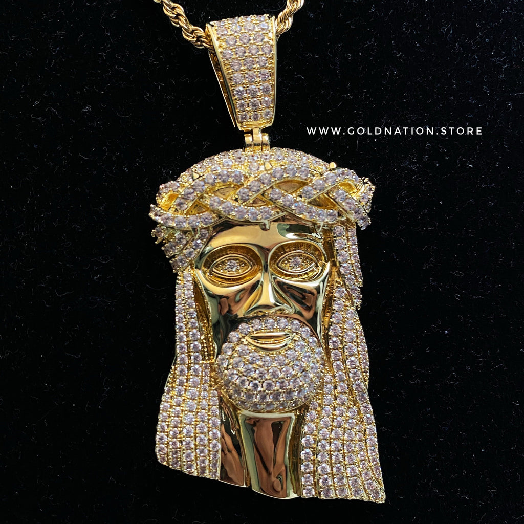 Big Jesus Pendants - Gold Nation Store