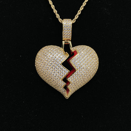 Broken Heart Pendants - Gold Nation Store