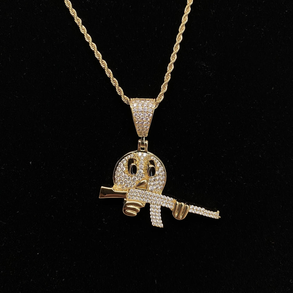 Emoji AKA-47 Pendants - Gold Nation Store
