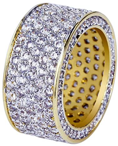 Iced Eternity Rings - Gold Nation Store