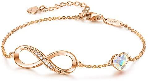 Infinity Pure Silver Heart Bracelets - Gold Nation Store