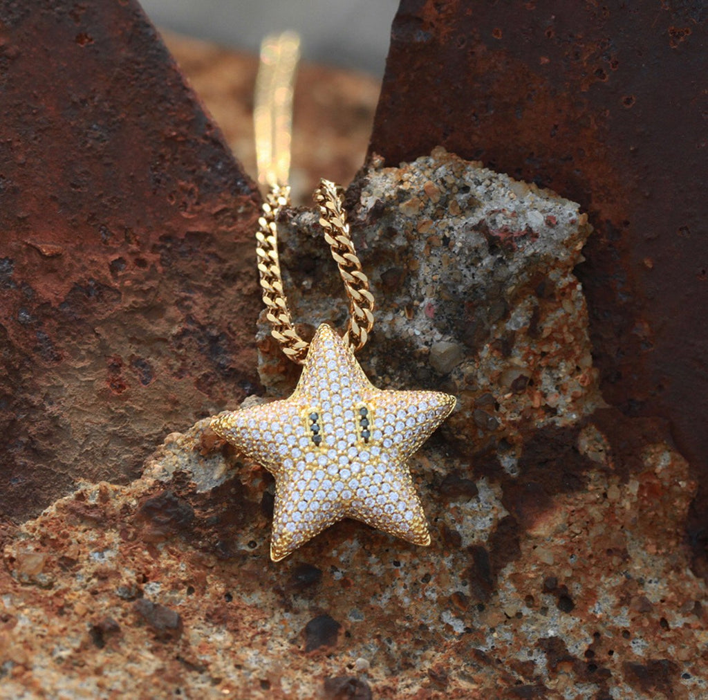 Mario Bros Super Alike Star Pendants - Gold Nation Store