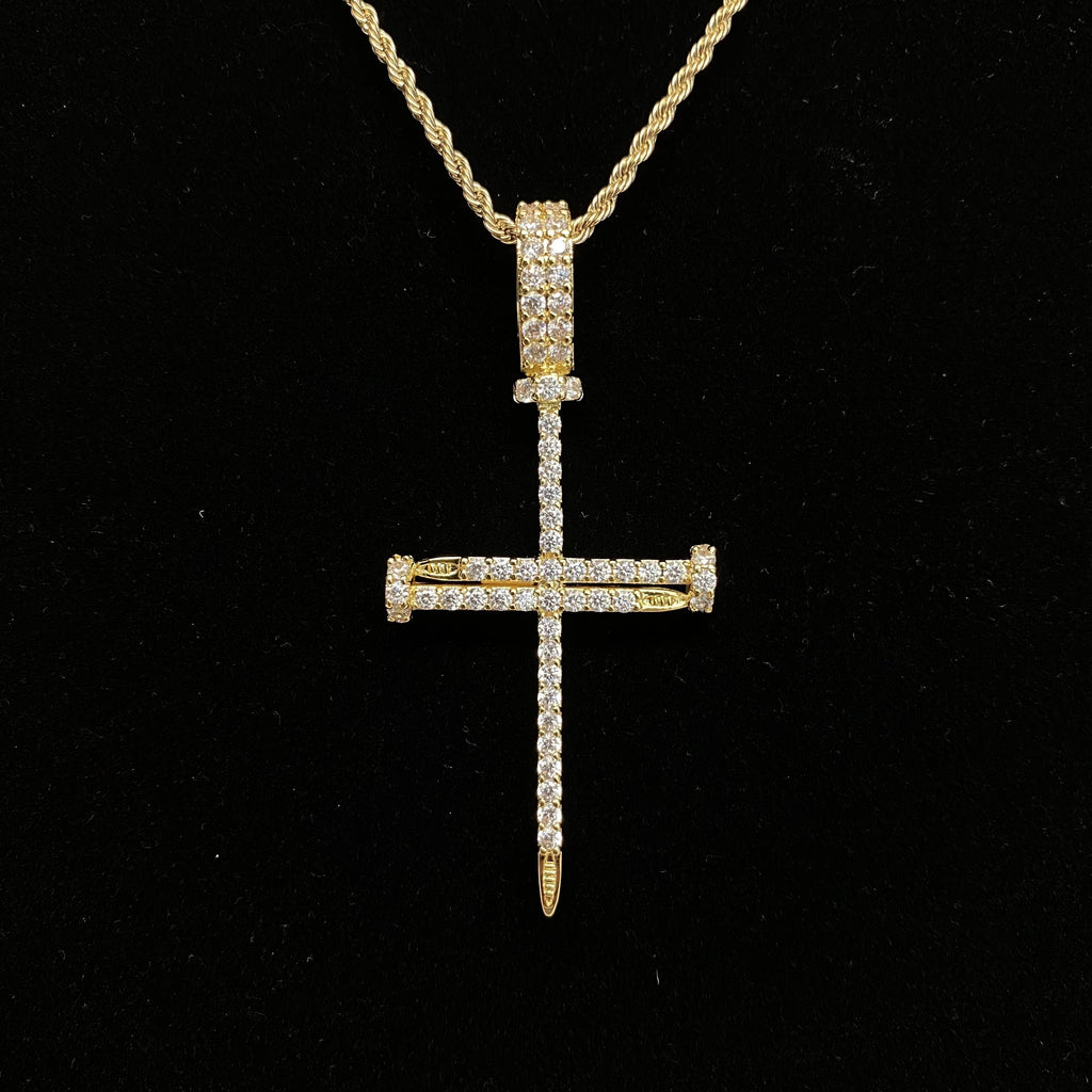 Nail Cross Pendants - Gold Nation Store