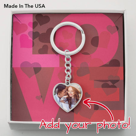 Photo Heart Keychain - Gold Nation Store