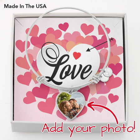 Photo Hearth Pendant Bracelets (Upload Your Photo) - Gold Nation Store
