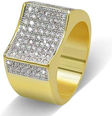 Rectangle CZ Stones Rings - Gold Nation Store
