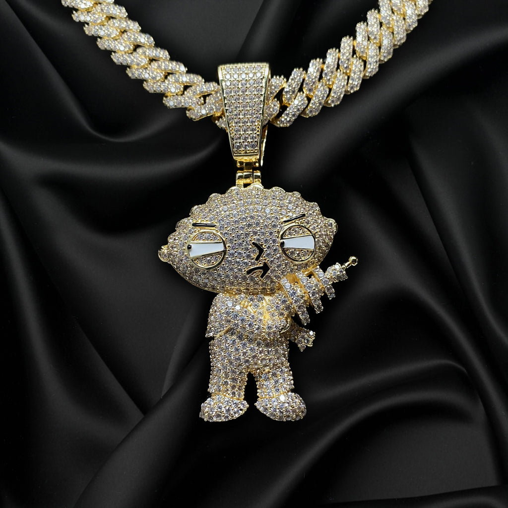 Stewie Big Pendants - Gold Nation Store