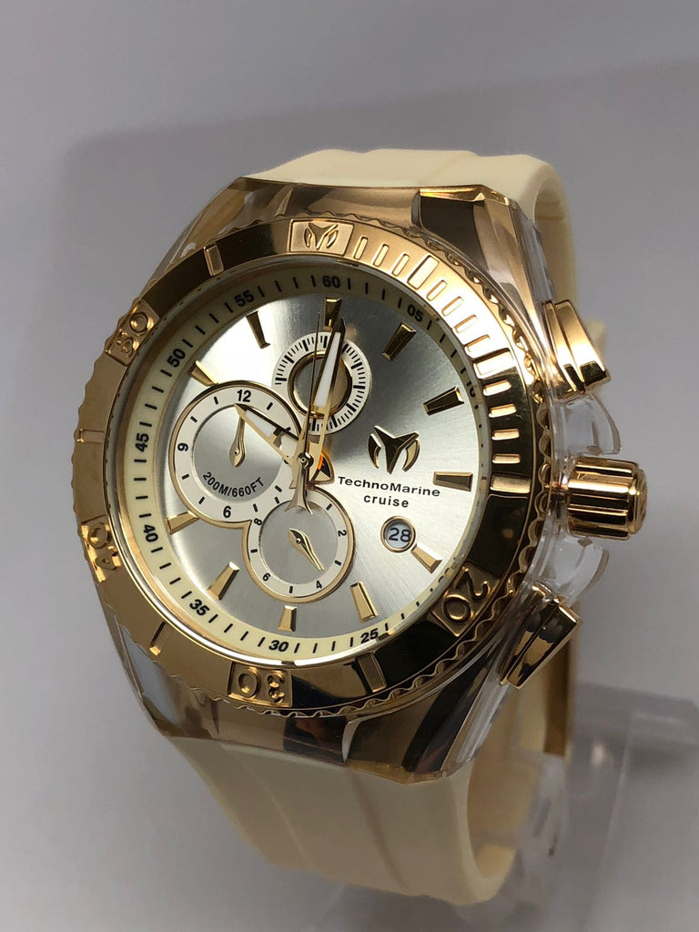45mm Technomarine Gold/Gold Champagne Watches - Gold Nation Store