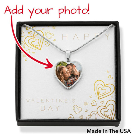 Valentines Custom Photo Pendant Necklaces (Hearth) - Gold Nation Store
