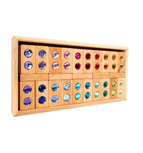 Load image into Gallery viewer, PRE-ORDER: Bauspiel colour street blocks with gemstones - 22 pieces