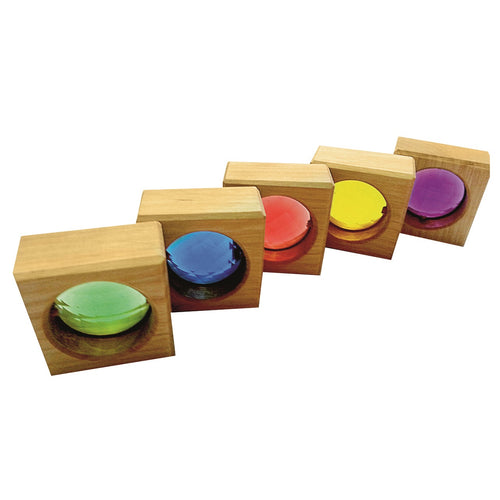 Bauspiel square window blocks with gemstones - 25 pieces