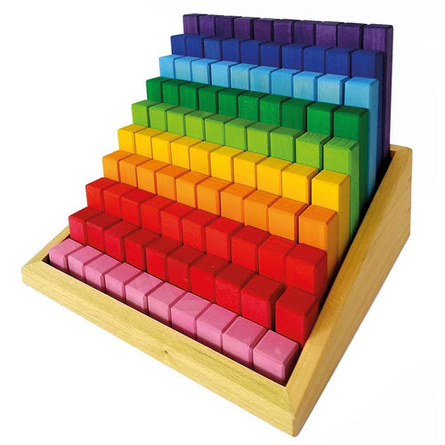 Bauspiel stepped blocks - 100 pieces