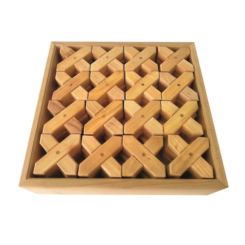 Bauspiel X-shape blocks - 8 pieces