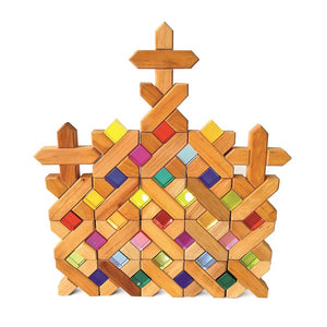 Bauspiel X-shape blocks - 48 pieces