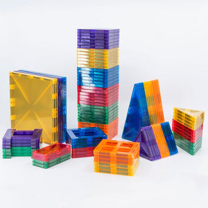 Magnetic building tiles - 100 pieces