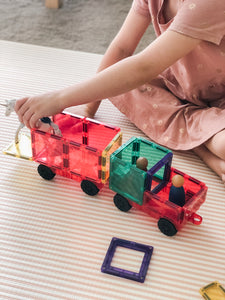 PRE-ORDER: Connetix magnetic building tiles - 24 piece car set