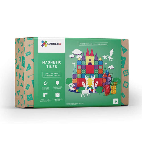 Connetix magnetic tiles - 100 pieces