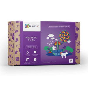 Connetix magnetic tiles - 62 pieces