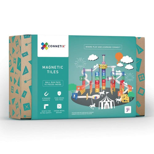 Connetix magnetic tiles - 92 piece ball run