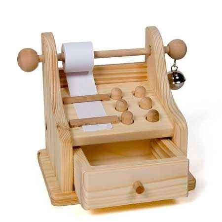 Drei Blatter wooden cash register