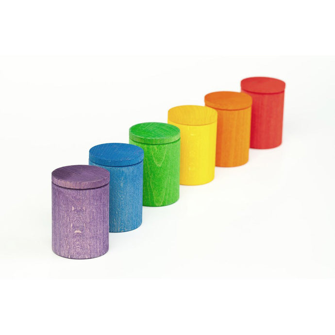 Coloured cups with lids