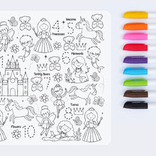 Load image into Gallery viewer, Reusable colouring mat and markers - Sugar & spice