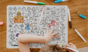 Reusable colouring mat and markers - Sugar & spice