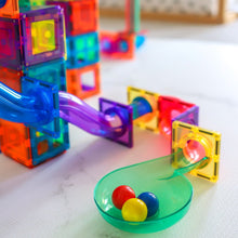 Load image into Gallery viewer, PRE-ORDER: Learn & Grow magnetic tiles - 84 piece ball run