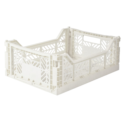 Ay-Kasa midi folding crate - coconut milk